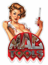 "MAC tools Made in the USA beautiful lady sticker decal 4"" x 5"""
