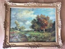 Antique 19th Century Painting Oil on Canvas Signed J.RL.