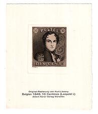 Belgien Nr. 1, Original-Radierung von Kurt Libesny