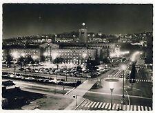 STUTTGART Hauptbahnhof Bonatz Bahnhof Kopfbahnhof bei Nacht * Foto-AK um 1960