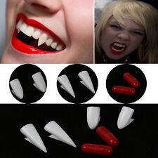 4X Blood curdling Vampire/Werewolves Teeth Fangs Dentures Costume Halloween Hot