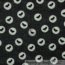 BonEful Fabric FQ Cotton Quilt Green Black White Chicken Coop Baby Dot Lace RARE