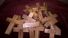 CHUNKY OLIVE WOOD CROSSES FROM BETHLEHEM IN THE HOLY LAND.  Buy 5 get 5 FREE
