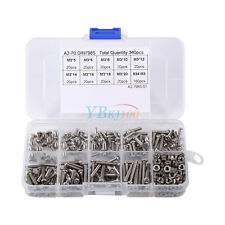 340pcs M3 A2 304 Stainless Steel Tool Accessory Button Head Hex Socket Screw NEW