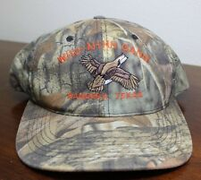 WHO-AHHH GANG CAMO SNAP-BACK CAP ADVANTAGE TIMBER, EMBROIDERED EAGLE, BANDERA TX