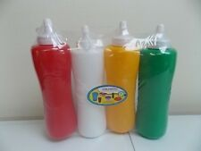 4SQUEEZE BOTTLE-CONDIMENT DISPENSER-14oz-QUALITY PLASTIC-MUSTARD KETCHUP-BPA FRE