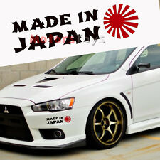 1x Black Made In Japan Red Rising Sun Car Body Window Bumper Vinyl Decal Sticker