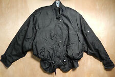 Andy Johns Black Windbreaker Jacket sz Small Vintage 80s Drawstring Active Top S