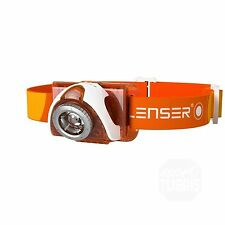 LED LENSER SEO 3 Stirnlampe Kopflampe orange weiß 6104