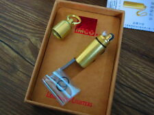 EDC Outdoor Brass Mini Kerosene Pipe Cigarette Lighter with Keychain Cool Novelt