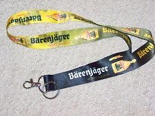 Jagermeister Barenjager Honey Liqueur Lanyard Strap Boat Key Chain Ring ID Clasp