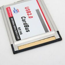 2014 New PCMCIA to USB 2.0 CardBus Dual 2 Port 480M Card Adapter for Laptop 9741