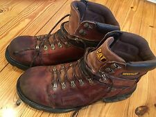 CAT LEATHER STURDY BUILT CATERPILLAR MENS WORK BOOTS SZ 12 PREOWNED WATERPROOF!