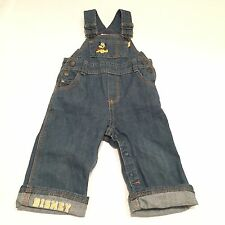 DISNEY Pluto blue denim dungarees  Baby girls boys unisex clothes 3-6 Months