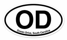"OD Ocean Drive South Carolina Oval car window bumper sticker decal 5"" x 3"""