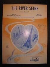 The River Seine Sheet Music Vintage 1953 La Seine Guy Lafarge Allan Roberts (O)