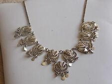 Fab Jingly Jangly Eastern Style Silver Filligre Necklace