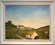 Original Oil Painting IRISH FARM COTTAGES by Ireland Artist MATT MCWHIRTER