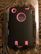 Authentic Black & Pink Otterbox Defender Series Case Cover Apple iPhone 3G 3Gs