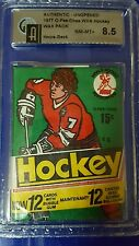 1977-78 O-Pee-Chee OPC WHA Hockey Wax Pack  Graded GAI 8.5  Howe Showing Back