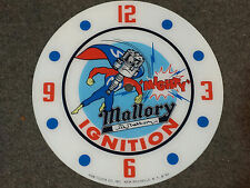 "*NEW*14.25"" MALLORY IGNITION HOT ROD GAS MOTOR OIL RD GLASS FACE PAM CLOCK"