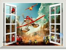 Disney Planes Fire & Rescue Dusty 3D Window Wall Decals Removable Kids Sticker