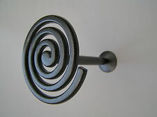 2 Silver Pewter Effect Curtain Pole Spiral Holdbacks Tieback Holdback New