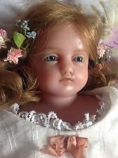 Outstandingly pretty signed Pierotti antique English poured wax girl doll