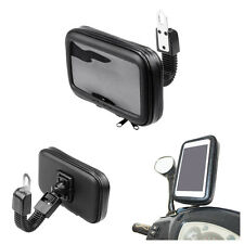 Rotation Motorcycle  Handlebar Mount Holder Waterproof Bag Case for Cell Phone