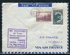 Argentine. - Enveloppe par avion pour Paris en 1948   réf O 153