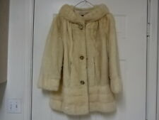 GREAT COND NOT MUCH USED VINTAGE GENUINE CHAMPAIGN BLONDE MINK FUR SWING COAT