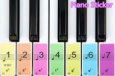 Piano Keyboard Removable Stickers up to 88 keys set for Kids learn to play