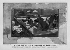 METEOROLOGY MAKING THE WEATHER FORECAST AT WASHINGTON WEATHER BUREAU CLERKS