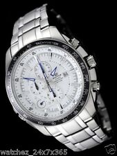 CASIO EDIFICE CHRONOGRAPH EF-545D-7A WITH SPLIT TIMER ALARM DATE DISPLAY STEEL