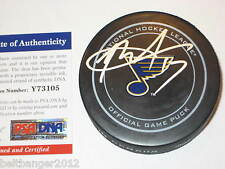 ROD BRIND'AMOUR signed St. Louis BLUES Official GAME Puck w/ PSA COA