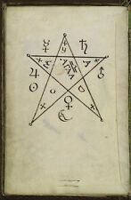 "The Key of Hell Cyprianus Black Magic 18th Century, 7x5"" Reprint Witchcraft"