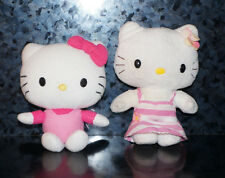 x2 HELLO KITTY PLUSH LOT Sanrio NakaJima & Fiesta Stuffed Animal Doll Figure Toy