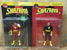 Vintage DC Direct SHAZAM & BLACK ADAM Action Figure * Set of 2 MIB
