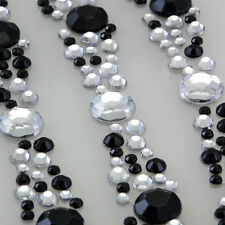 CB025E 3 Stick On Diamante STRIPS Self Adhesive Gems Crystals RHINESTONES Bling