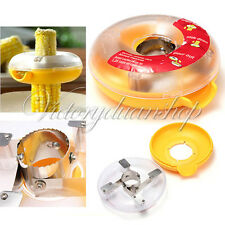Kitchen Tool Dounut Shaped One Step Corn Kerneler Stripper Peeler Remover NEW