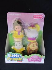 Fisher Price Little People Disney Princess Belle and Friends 4 Pack Figures New