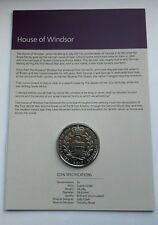2017 UK ROYAL MINT HOUSE OF WINDSOR £5 FIVE POUND COIN BU ON CARD - COIN  HUNT