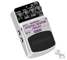 Behringer DR400 Digital Reverb Delay Stompbox True Bypass Guitar Effects Pedal