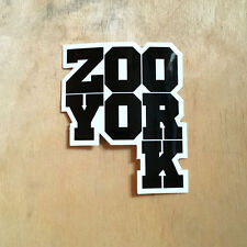 Zoo York vinyl sticker skateboard EAST NYC box logo art bumper laptop bold stack