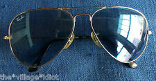 Ray Ban B&L Aviator 58[]14 Gold Vintage Sunglasses RB 3025 W3171 Clean/Tight