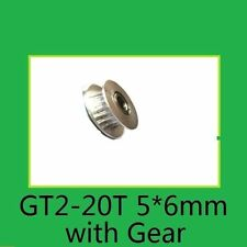 GT2 20T Tooth Gear 5 6mm Pulley Aluminum Alloy for 3D Printer Timing Belt