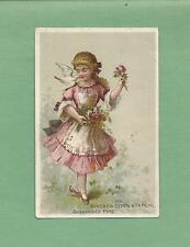 Lovely GIRL, DOVE On Colorful NIAGARA CORN STARCH Victorian Trade Card