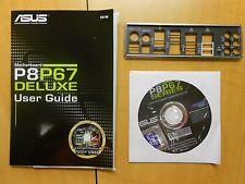 USA ASUS P8P67 DELUXE IO SHIELD , DVD DRIVER , USER GUIDE