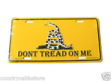 Don't Tread on Me Gadston Flag 2nd Amendment Embossed License Plate 6x12 inches