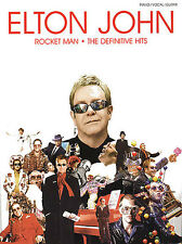 Elton John Rocket Man The Definitive Hits Piano VOCAL GUITAR SONGS MUSIC Book